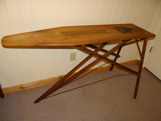 Antique Wooden Ironing Board Rid Jid Brand Great Condition