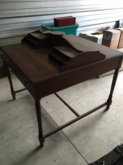 Antique walnut double sided desk in Naperville - Antique Walnut Double Sided Desk Antiques - By Owner For Sale On