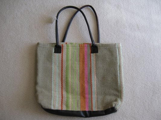 Dash And Albert Stone Soup Woven Cotton Tote Bag New In Naperville