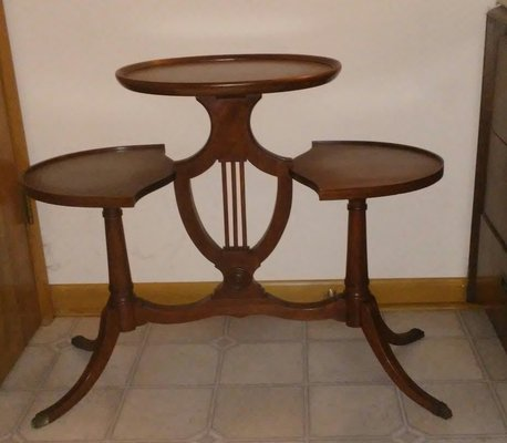 Mersman 3 Tier Lyre/Harp Table/Plant Stand 7113 In Yorkville