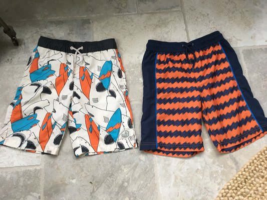 af8cbd620e 2 Pairs of Boys Swim Trunks Size 10-12 (Gap + Lands End) | Clothing ...
