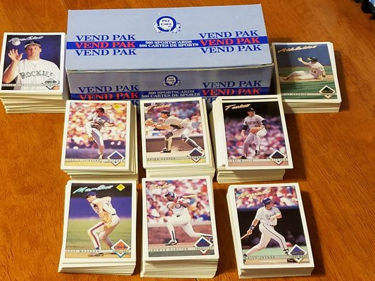 Vend Pak 500 Baseball Cards New Fitness Sports For Sale