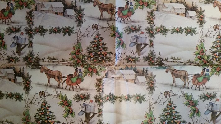 Vintage Christmas Wrapping Paper in Oswego