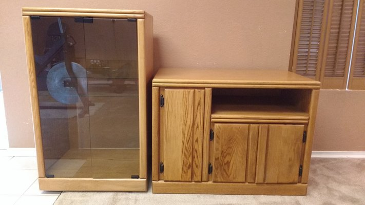 Lovely Solid Oak Entertainment Center Cabinets In San Diego