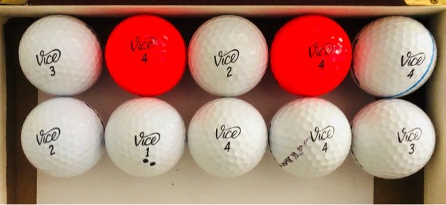 10 Vice Used Golf Balls Near Mint Condition Golf For Sale On