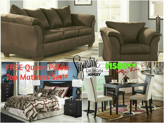 Recovery Deals  3 Rooms Package   Dream Rooms Furniture In Kingwood