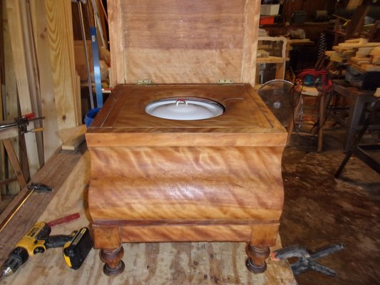 Bedside commode chamber/pot | Antiques - by owner for sale on Robins ...