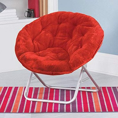 Red u201cMoon Chairu201d Plush Saucer Chair in Bolingbrook : plush saucer chair - Cheerinfomania.Com