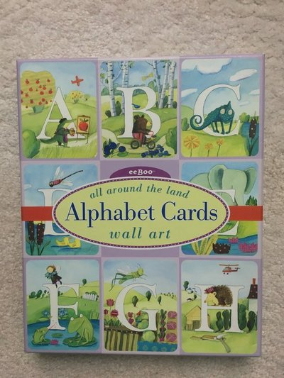 Land of Nod Alphabet Cards Wall Art   Arts & Crafts for sale on ...