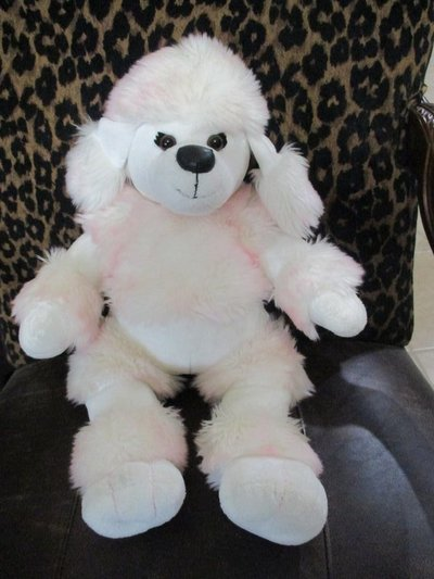 Build A Bear French Poodle White And Pink Stuffed Animal Toy Toys