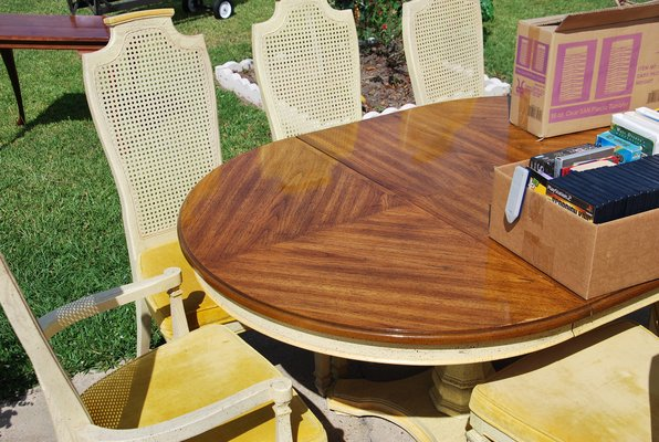 Wood Dining Rm Table W 6 Chairs In Fort Polk