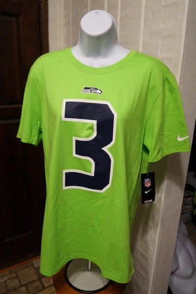 online retailer 55e48 7ad25 RUSSELL WILSON #3 - Nike Player Pride Neon T-Shirt (Women's ...