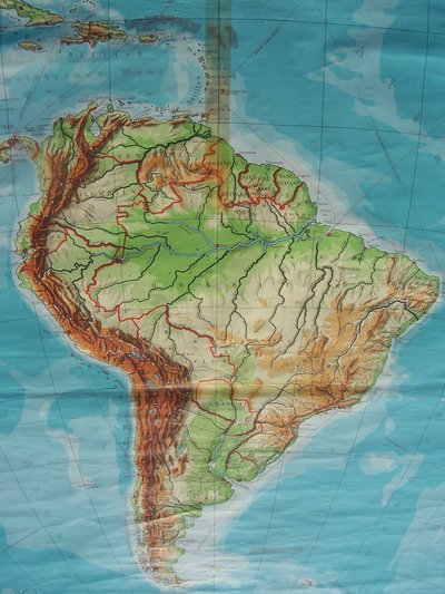 1960s GE School Poster: Map of South America + One 1,000 ...