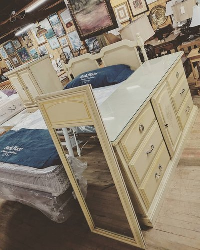 Queen Cream Colored Bedroom Set In Camp Lejeune