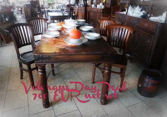 Awe Inspiring Solid Mango Wood Dining Room Set With 4 Chairs Furniture Machost Co Dining Chair Design Ideas Machostcouk