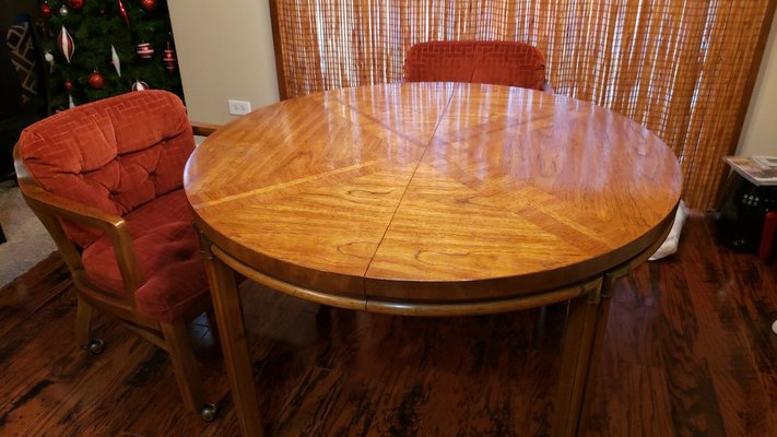 Pecan Wood Table With 4 Chairs In Plainfield