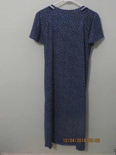 df6d82031e Earth Angels Short Sleeve Long Navy Floral Nightgown in Naperville