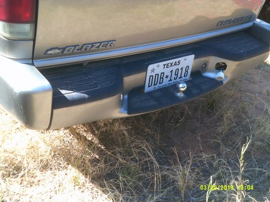 2001 Chevrolet Blazer Rear Bumper Assembly Parting Out Auto