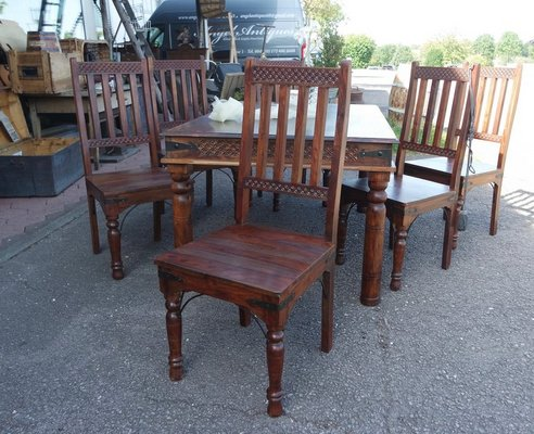 Miraculous Timeless Solid Mango Wood Dining Room Set With 6 Chairs Machost Co Dining Chair Design Ideas Machostcouk
