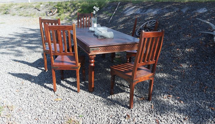Peachy Timeless Solid Mango Wood Dining Room Set With 6 Chairs Machost Co Dining Chair Design Ideas Machostcouk