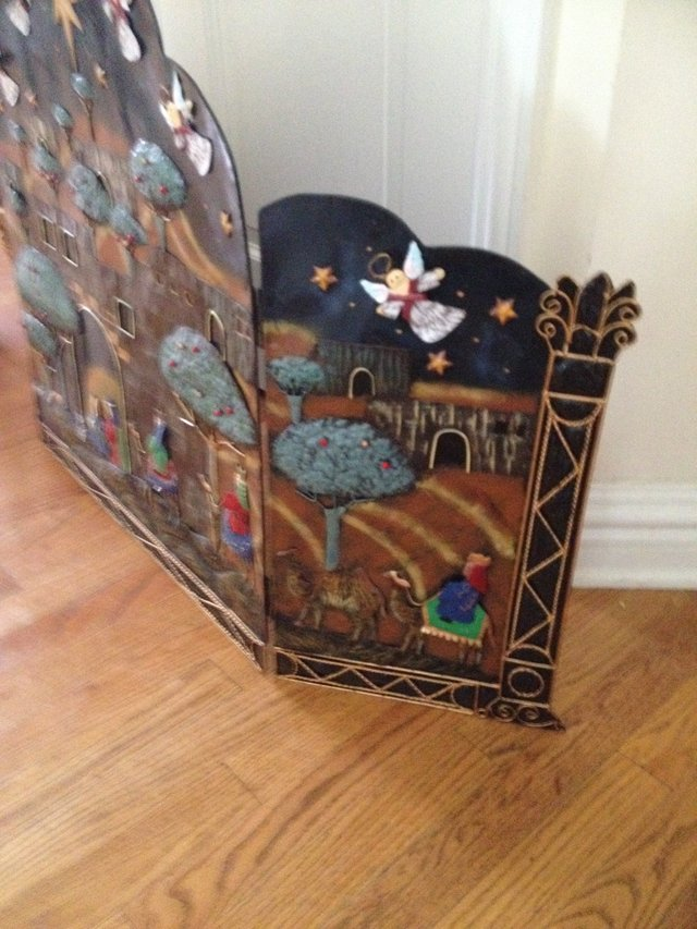 Christmas Theme Fireplace Screen | Home Decor for sale on Westmont ...