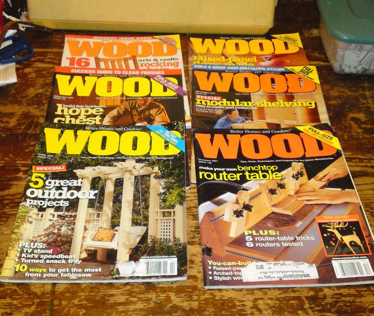 GROUP#2 SIX ISSUES BETTER HOMES U0026 GARDEN WOOD MAGAZINES In Camp Lejeune