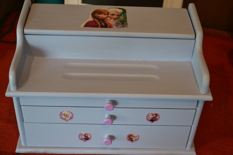 frozen themed shabby chic child s jewelry box baby kids for