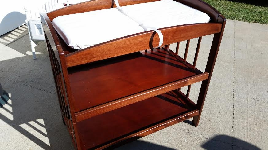 Dark Wood Bassett Changing Table Station In Fort Campbell