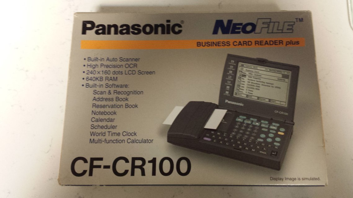 Panasonic Business Card Reader Plus - CF-CR100 | Electronics for ...