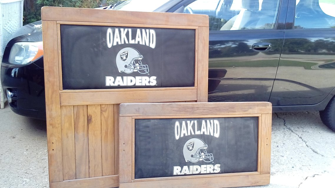 OAKLAND RAIDERS Twin Bed Frame | Furniture for sale on Lockport, IL ...