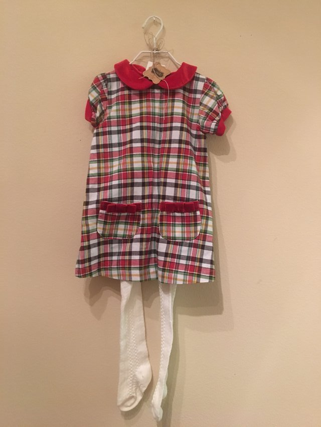 mudpie plaid christmas outfit brand new in kingwood - Mud Pie Christmas Outfit