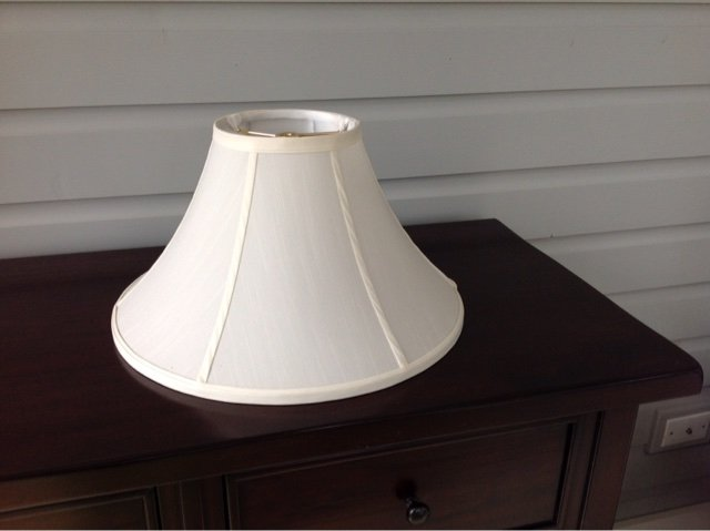 Restoration hardware white silk lamp shade home decor for sale restoration hardware white silk lamp shade in naperville mozeypictures Choice Image