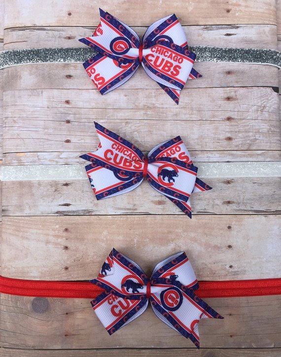 Chicago Cubs II Baby and Toddler Hair Bow Clips and Headbands! in Naperville 06da96e533d