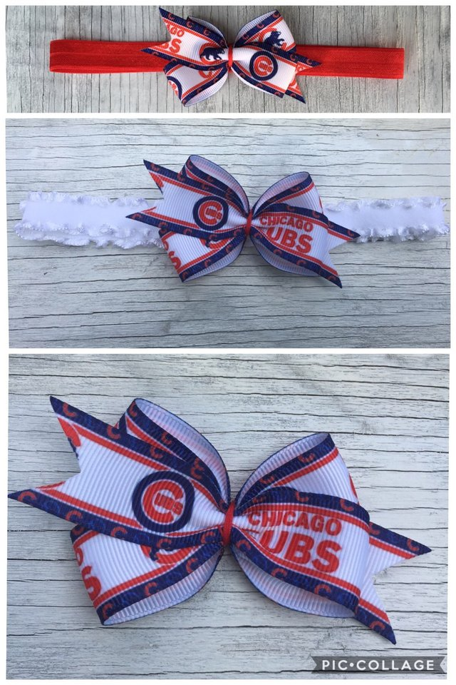 Chicago Cubs Baby Headband or Hair Bow in Wheaton b9d2024d2b4