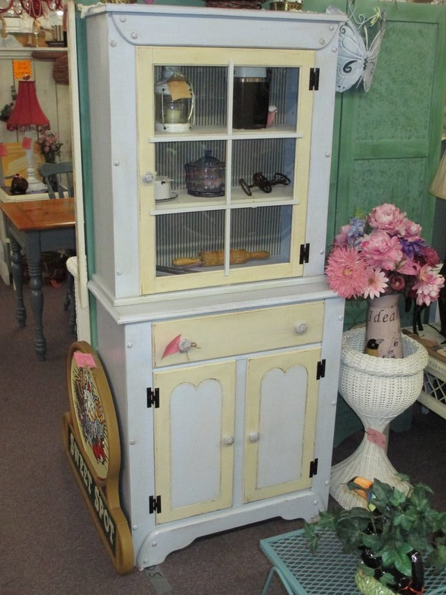 Vintage Country Kitchen Hutch At Twice As Nice Flea Market Booth