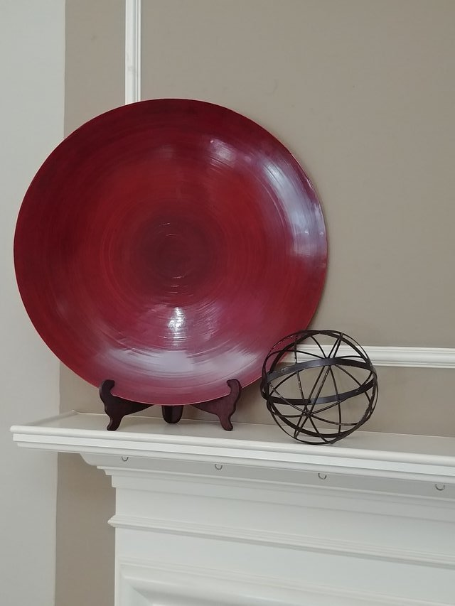 Large Decorative Red Plate in Kingwood & Large Decorative Red Plate | Home Decor for sale on Kingwood bookoo!