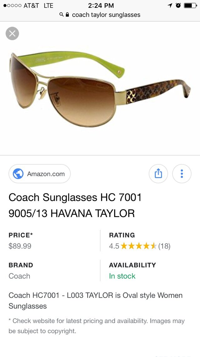 2afbaf7d6c63 coach sunglasses & case   Clothing: Accessories for sale on Oswego ...