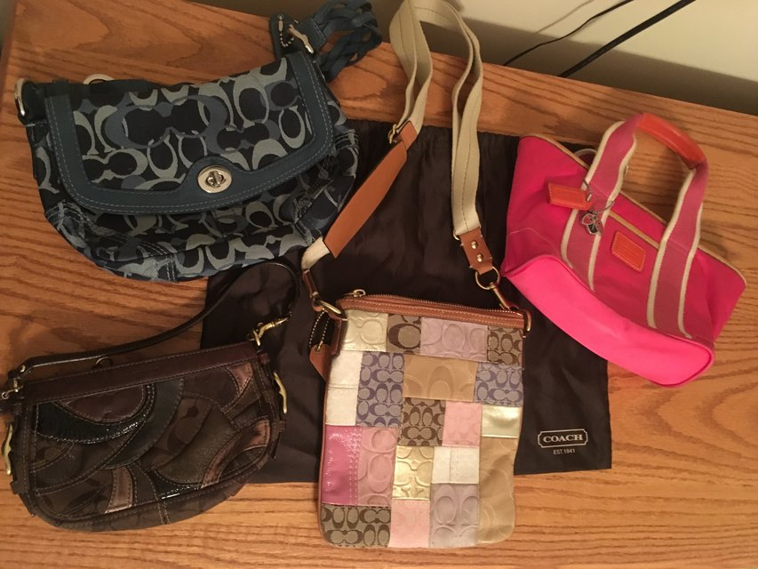 Four Pre Owned Coach Handbags For Less Than The Price Of One New In Camp