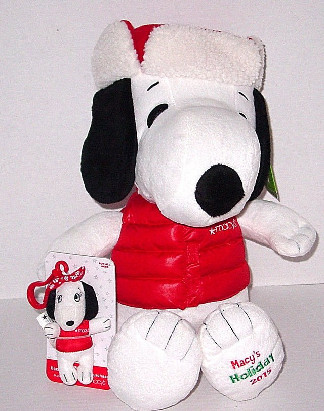New W Tags Snoopy Macy S 2015 Plush With Bonus Sister Belle Backpack