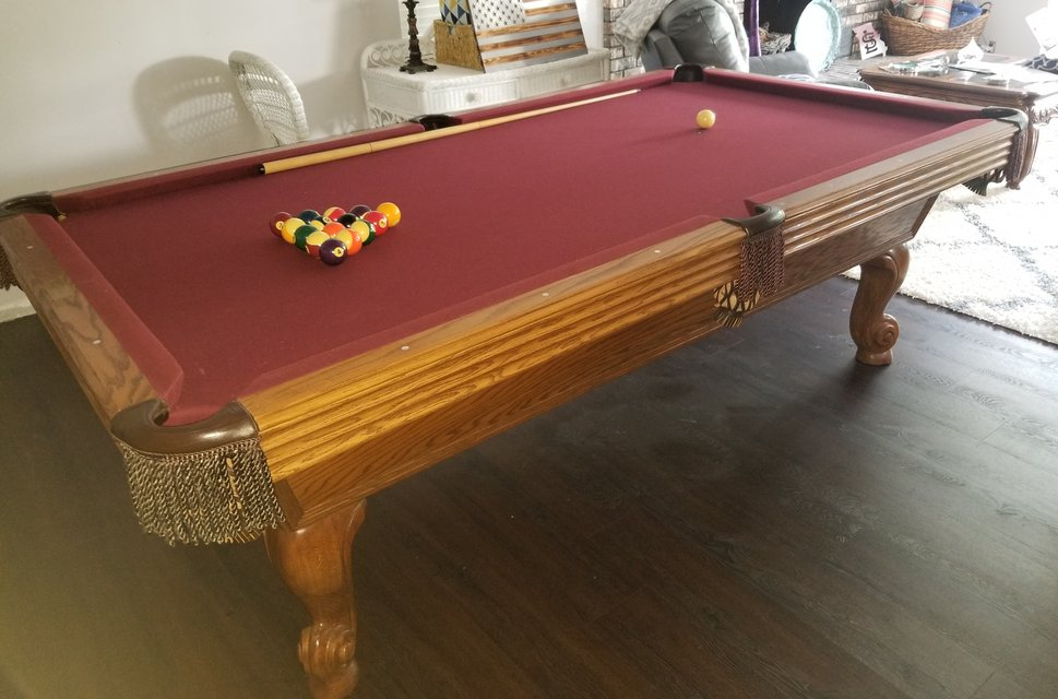 PreOwned Olhausen Ft Excellent Condition Pool Table With Three - Italian pool table