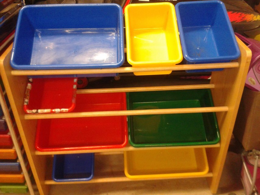 e503b079a735 Shelves with Storage Bins (Primary Colors) in Naperville